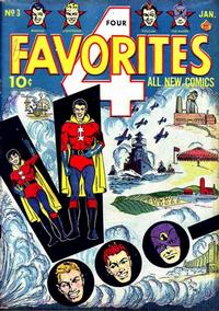 Cover Thumbnail for Four Favorites (Ace Magazines, 1941 series) #3