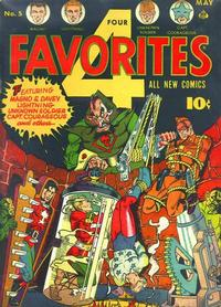 Cover Thumbnail for Four Favorites (Ace Magazines, 1941 series) #5