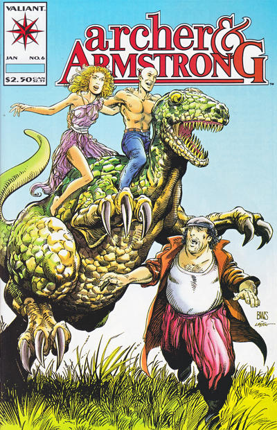 Cover for Archer & Armstrong (Acclaim / Valiant, 1992 series) #6