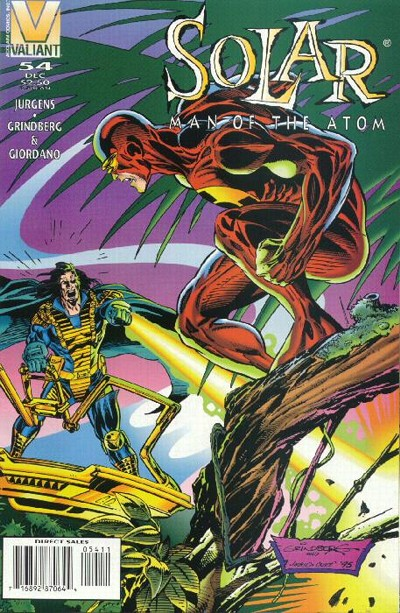 Cover for Solar, Man of the Atom (Acclaim / Valiant, 1991 series) #54