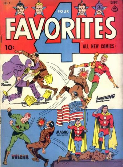 Cover for Four Favorites (Ace Magazines, 1941 series) #1