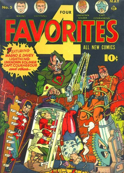 Cover for Four Favorites (Ace Magazines, 1941 series) #5