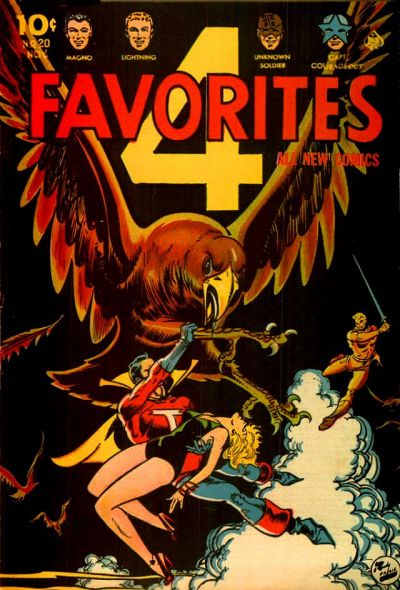 Cover for Four Favorites (Ace Magazines, 1941 series) #20