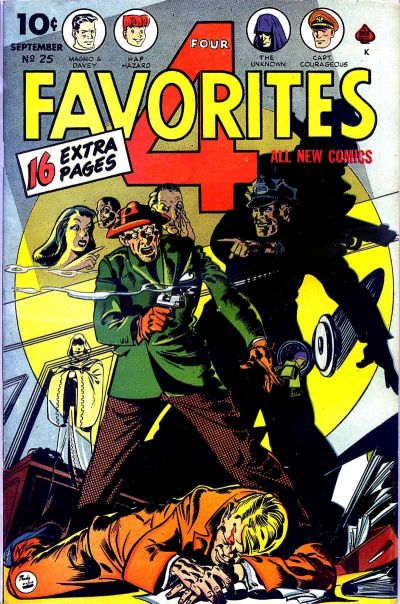 Cover for Four Favorites (Ace Magazines, 1941 series) #25