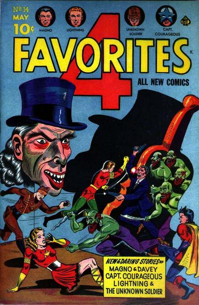 Cover for Four Favorites (Ace Magazines, 1941 series) #14