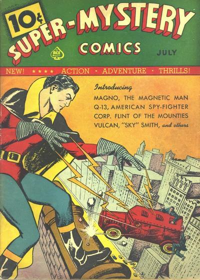 Cover for Super-Mystery Comics (Ace Magazines, 1940 series) #v1#1