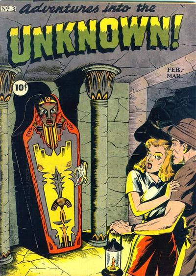 Cover for Adventures into the Unknown (American Comics Group, 1948 series) #3
