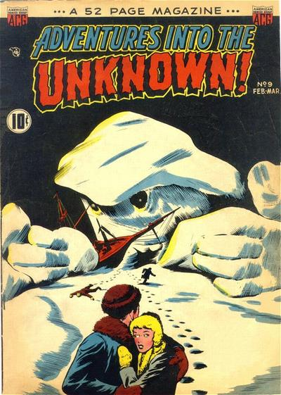 Cover for Adventures into the Unknown (American Comics Group, 1948 series) #9