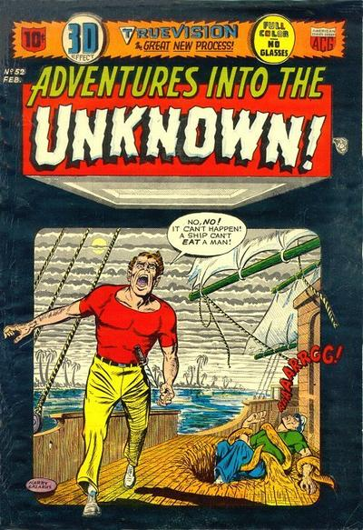 Cover for Adventures into the Unknown (American Comics Group, 1948 series) #52