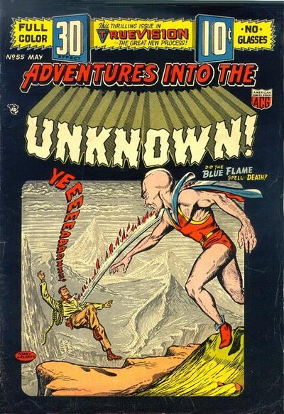Cover for Adventures into the Unknown (American Comics Group, 1948 series) #55