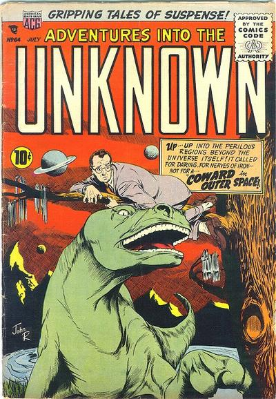 Cover for Adventures into the Unknown (American Comics Group, 1948 series) #64