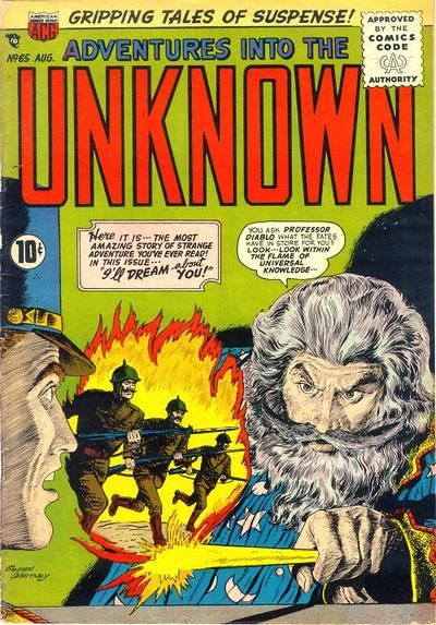 Cover for Adventures into the Unknown (American Comics Group, 1948 series) #65