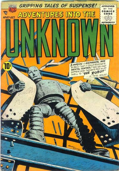 Cover for Adventures into the Unknown (American Comics Group, 1948 series) #67