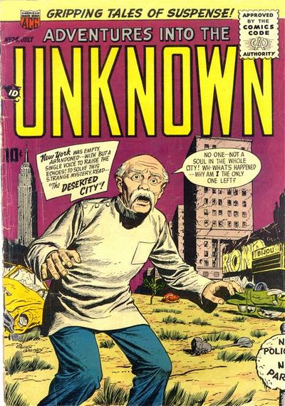 Cover for Adventures into the Unknown (American Comics Group, 1948 series) #74