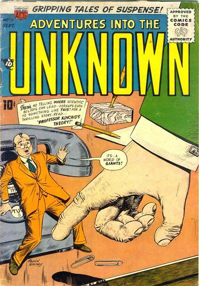 Cover for Adventures into the Unknown (American Comics Group, 1948 series) #76