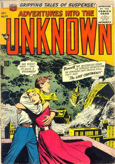 Cover for Adventures into the Unknown (American Comics Group, 1948 series) #77