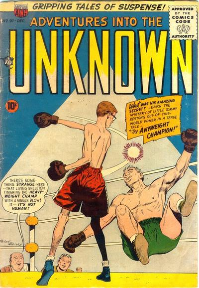 Cover for Adventures into the Unknown (American Comics Group, 1948 series) #91