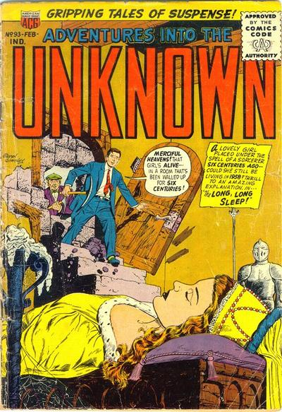 Cover for Adventures into the Unknown (American Comics Group, 1948 series) #93