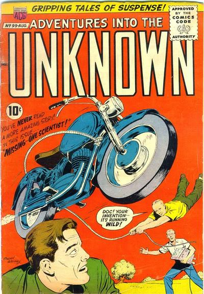 Cover for Adventures into the Unknown (American Comics Group, 1948 series) #99