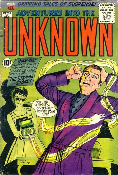 Cover for Adventures into the Unknown (American Comics Group, 1948 series) #103