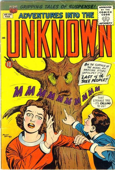 Cover for Adventures into the Unknown (American Comics Group, 1948 series) #105