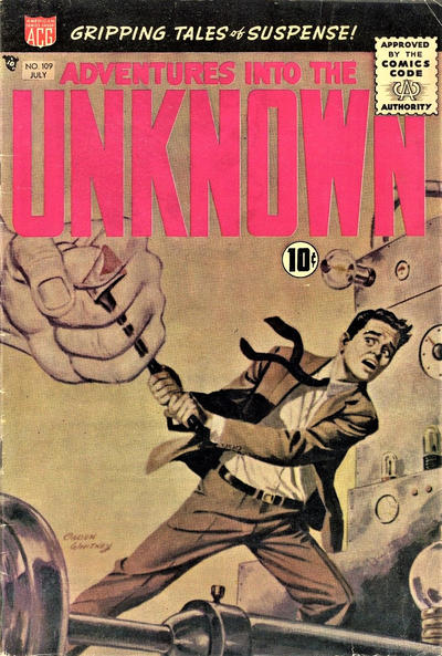 Cover for Adventures into the Unknown (American Comics Group, 1948 series) #109