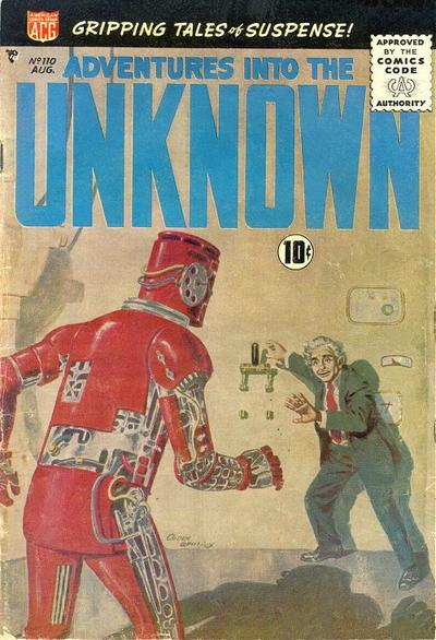 Cover for Adventures into the Unknown (American Comics Group, 1948 series) #110