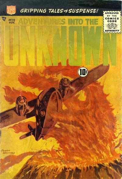 Cover for Adventures into the Unknown (American Comics Group, 1948 series) #112