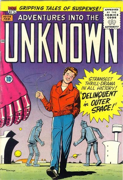 Cover for Adventures into the Unknown (American Comics Group, 1948 series) #114