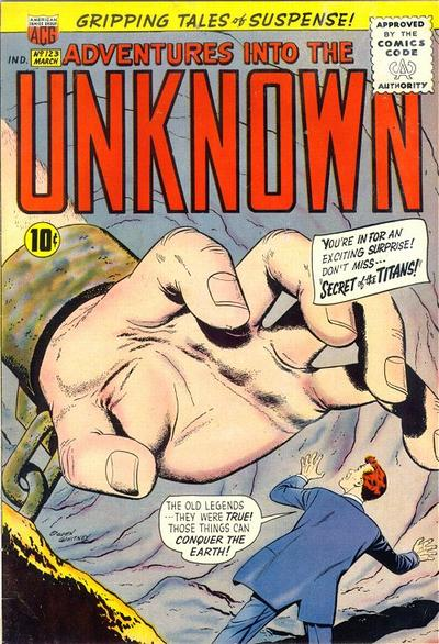 Cover for Adventures into the Unknown (American Comics Group, 1948 series) #123