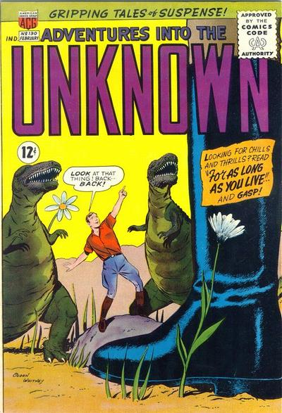 Cover for Adventures into the Unknown (American Comics Group, 1948 series) #130