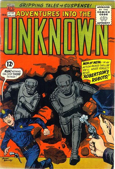 Cover for Adventures into the Unknown (American Comics Group, 1948 series) #133