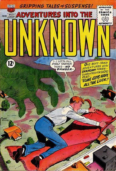 Cover for Adventures into the Unknown (American Comics Group, 1948 series) #134