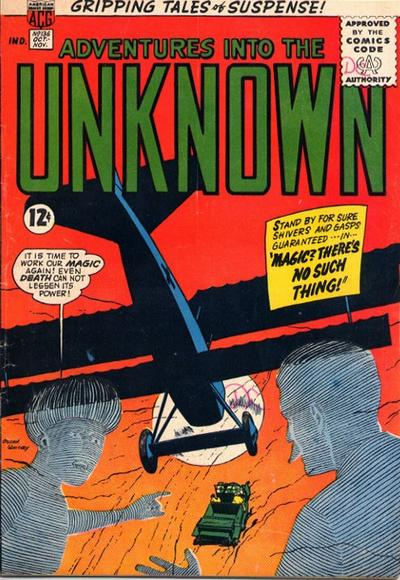 Cover for Adventures into the Unknown (American Comics Group, 1948 series) #136