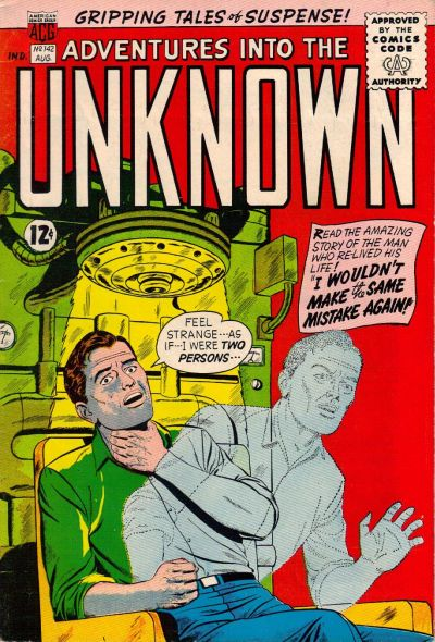 Cover for Adventures into the Unknown (American Comics Group, 1948 series) #142