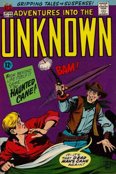 Cover for Adventures into the Unknown (American Comics Group, 1948 series) #168