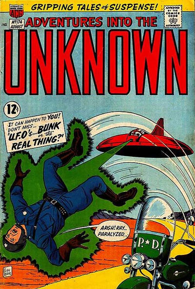 Cover for Adventures into the Unknown (American Comics Group, 1948 series) #174