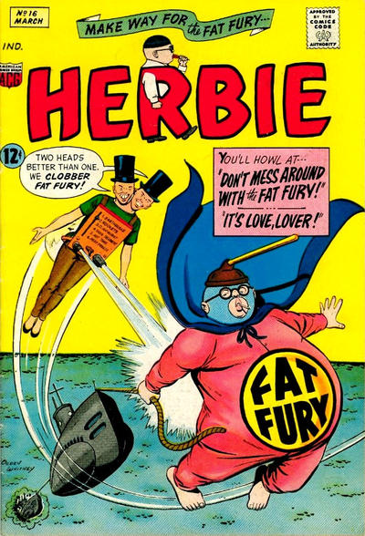 Cover for Herbie (American Comics Group, 1964 series) #16