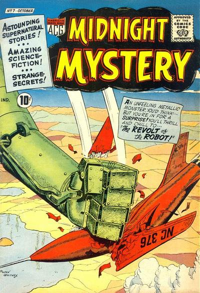 Cover for Midnight Mystery (American Comics Group, 1961 series) #7