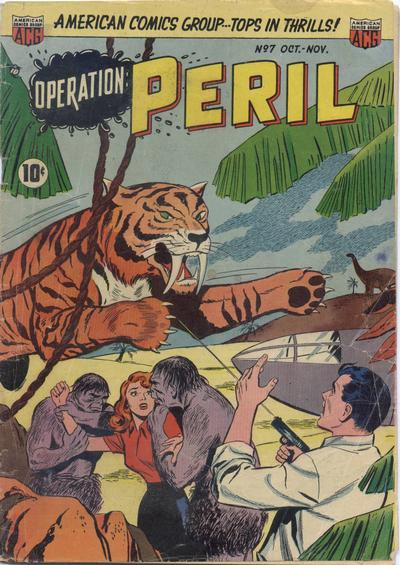 Cover for Operation: Peril (American Comics Group, 1950 series) #7