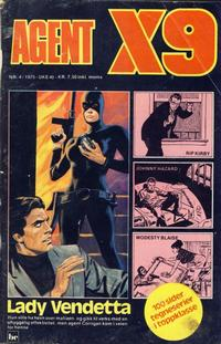 Cover Thumbnail for Agent X9 (Nordisk Forlag, 1974 series) #4/1975