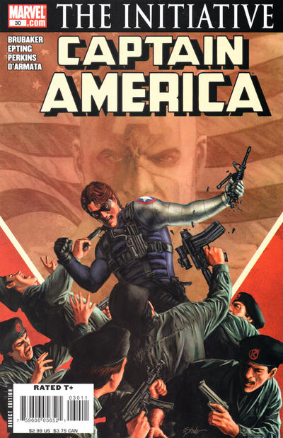 Cover for Captain America (Marvel, 2005 series) #30 [Direct Edition]
