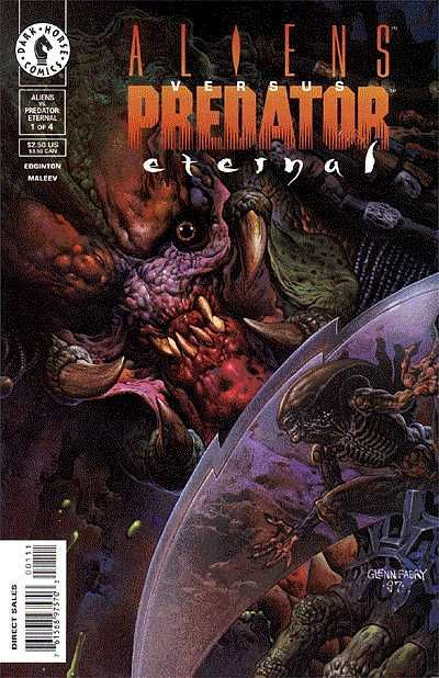Cover for Aliens vs. Predator: Eternal (Dark Horse, 1998 series) #1