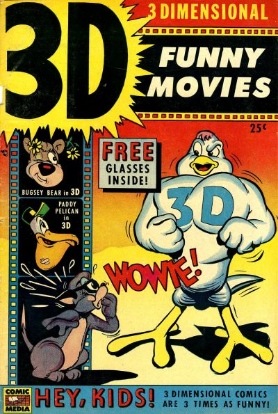 Cover for 3D Funny Movies (Comic Media, 1953 series) #1
