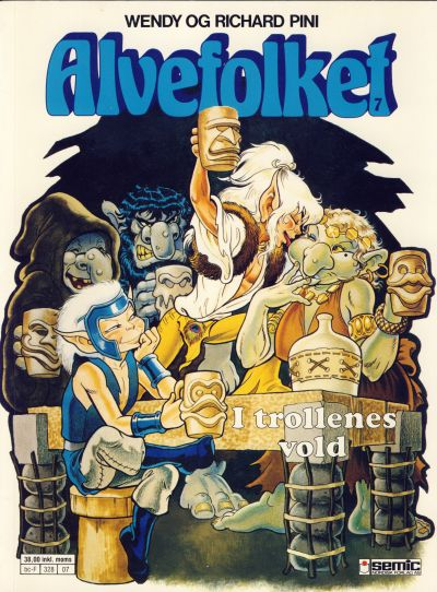 Cover for Alvefolket (Semic, 1985 series) #7 - I trollenes vold [1. opplag]