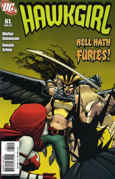Cover for Hawkgirl (DC, 2006 series) #61