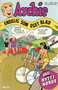 Cover Thumbnail for Archie (Semic, 1982 series) #1/1982