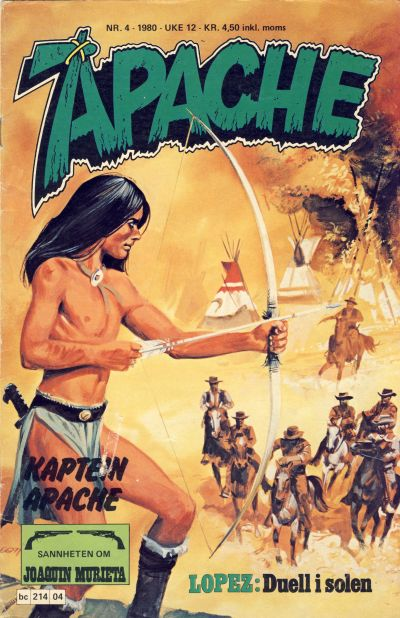 Cover for Apache (Semic, 1980 series) #4/1980