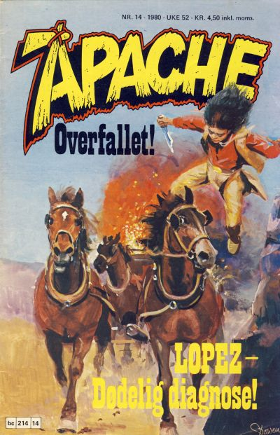 Cover for Apache (Semic, 1980 series) #14/1980