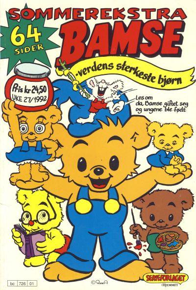 Cover for Bamse Sommerekstra (Hjemmet / Egmont, 1992 series) #[1992]